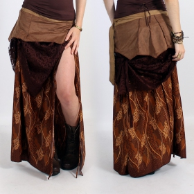 \'\'Utopia\'\' skirt, Light brown with patterns