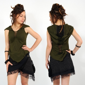 \\\'\\\'Wassana\\\'\\\' long top, Khaki