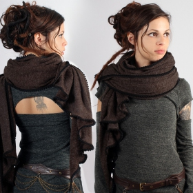 \\\'\\\'Zahïoo\\\'\\\' scarf, Brown