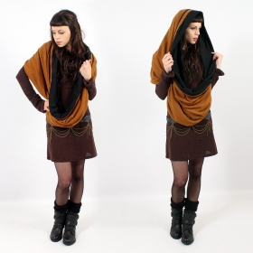 \'\'Zaïka\'\' snood, Rusty and black