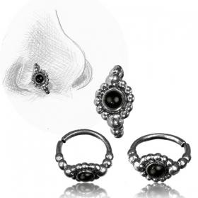 \'\'Zeya Pali\'\' silver nose ring