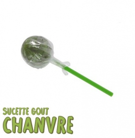 1 lollipop, green hemp taste
