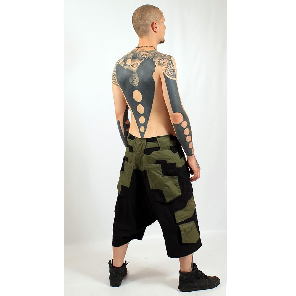 "3/4 Sarouel High Clothing \\\""Corsar\\\"", Black khaki"