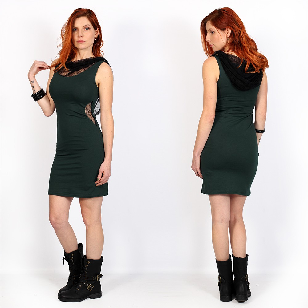 """Abbyss\"" sleeveless dress, Dark Teal"