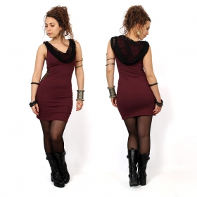 """Abbyss\"" sleeveless dress, Wine"