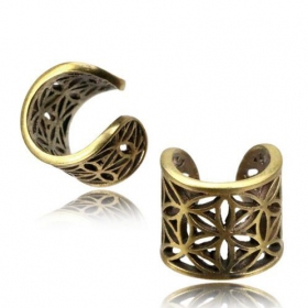 "\""Abhra Flower of Life\\\"" ear cuff"