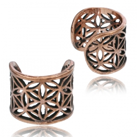 """Abhra Peetal Flower of Life\"" ear cuff"