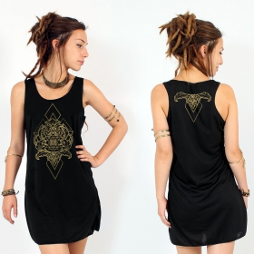 """Adhyatmika\"" dress, Black and Gold"