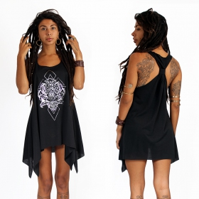 ""\""""Adhyatmika"""" knotted tunic, Black and silver""280|280|?|en|2|e99ce2085e6fb21ca4e38183e733be3b|False|UNLIKELY|0.28644049167633057