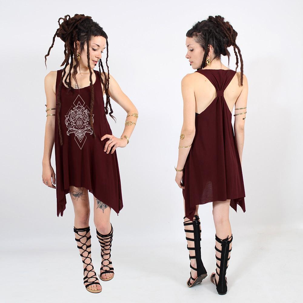 "\""Adhyatmika\"" knotted tunic"