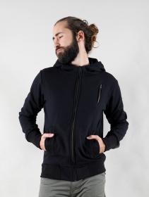"\""Aegnor Circuit\"" zipped hoodie, Black"