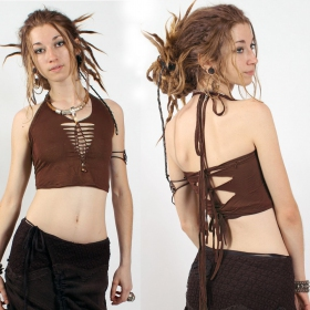 """Afra\"" top, Brown"