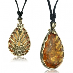 """Ahlam Amber\"" necklace"