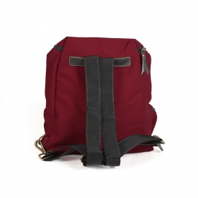 ""\""""Akamu"""" backpack, Leather and wine cotton""280|280|?|en|2|20eb04effe9c0dab9c648c8c6a76b381|False|UNLIKELY|0.3487306833267212