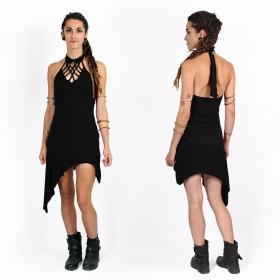 "\""Akanksha\"" half long dress, Black"