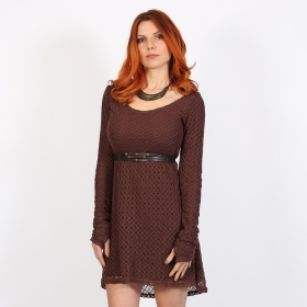 """Alchemÿa\"" crochet lining dress, Brown"