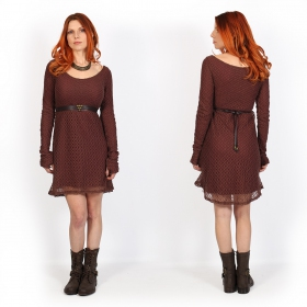 """Alchemÿa\"" crochet lining dress, Wine"