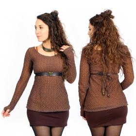 "\""Alchemÿa\"" crochet lining top, Rusty"