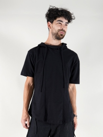 "\""Aldaron\"" hooded t-shirt, Black"