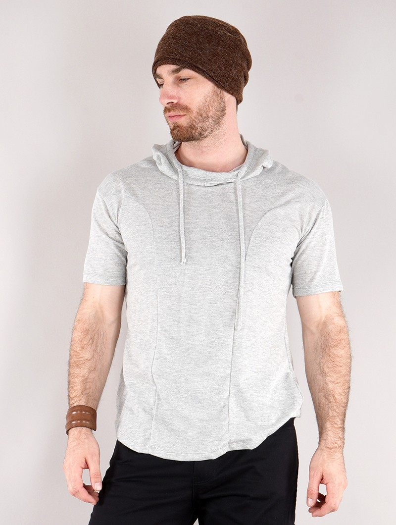 """Aldaron\"" hooded t-shirt, Grey"