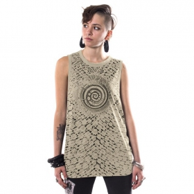 """All over Serpent\"" tank top, Sand"