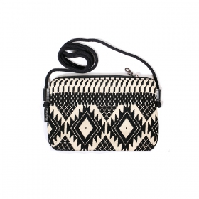 """Alok\"" bag, Black and white"