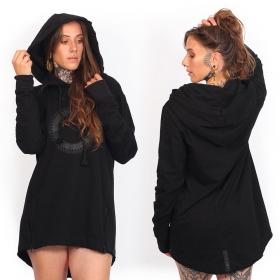 "\""Altiplano\"" unisex thin hoodie, Black"