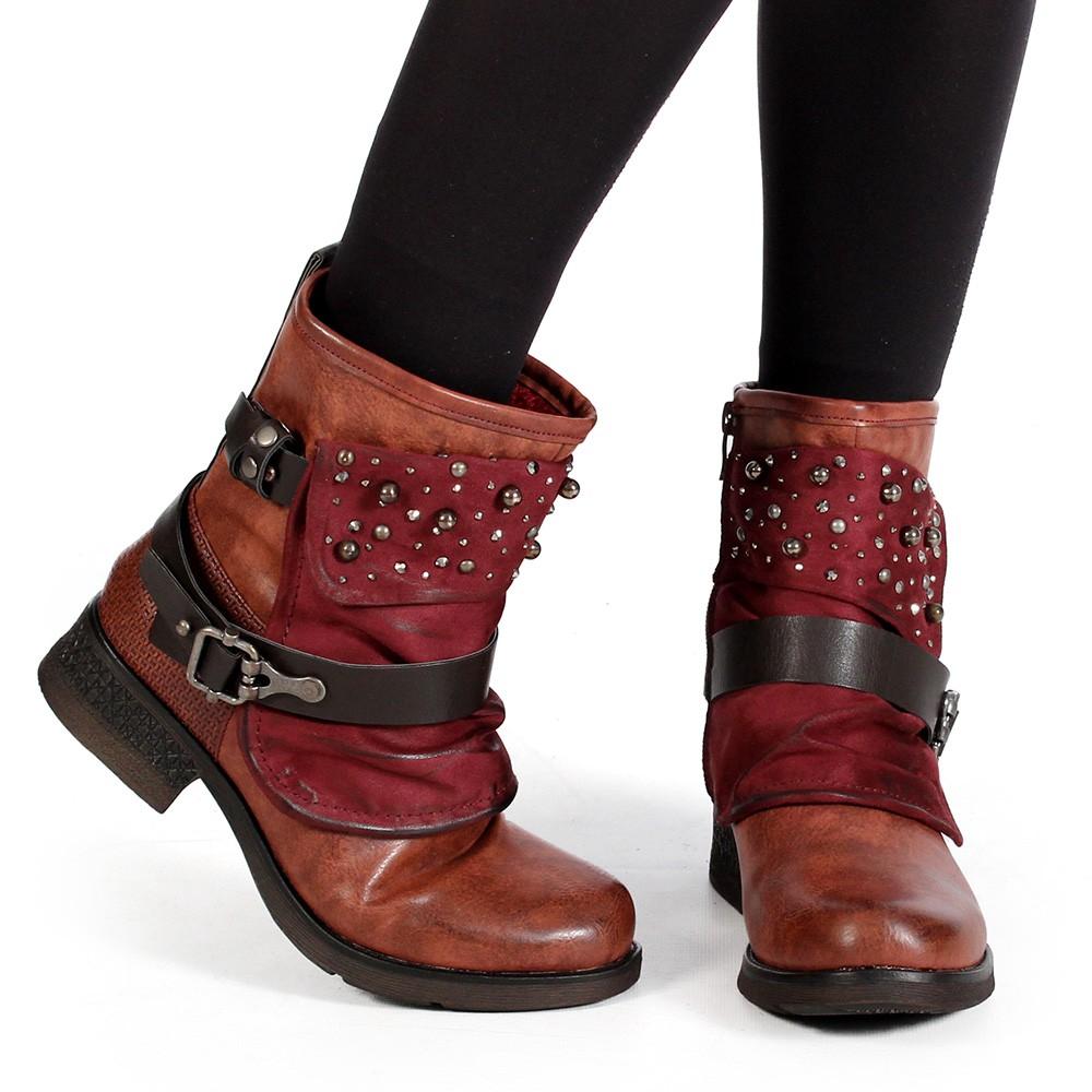 "\""Alyiah\"" boots, Raspberry"