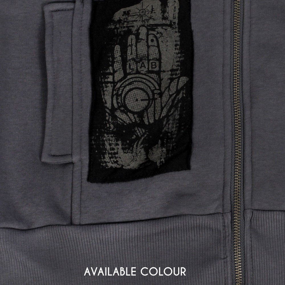 """Amarth"" sleeveless zipped hoodie, Dark grey"