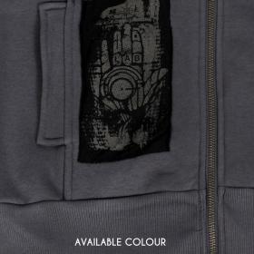 """""""Amarth"""" sleeveless zipped hoodie, Dark grey"""