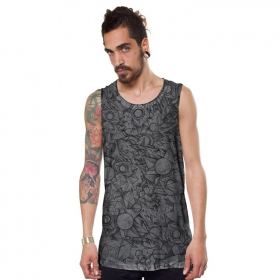 """Ambitones\"" tank top, Grey wash"