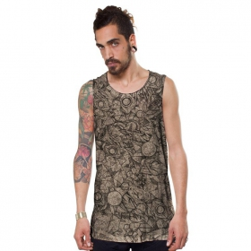 """Ambitones\"" tank top, Wash bone"