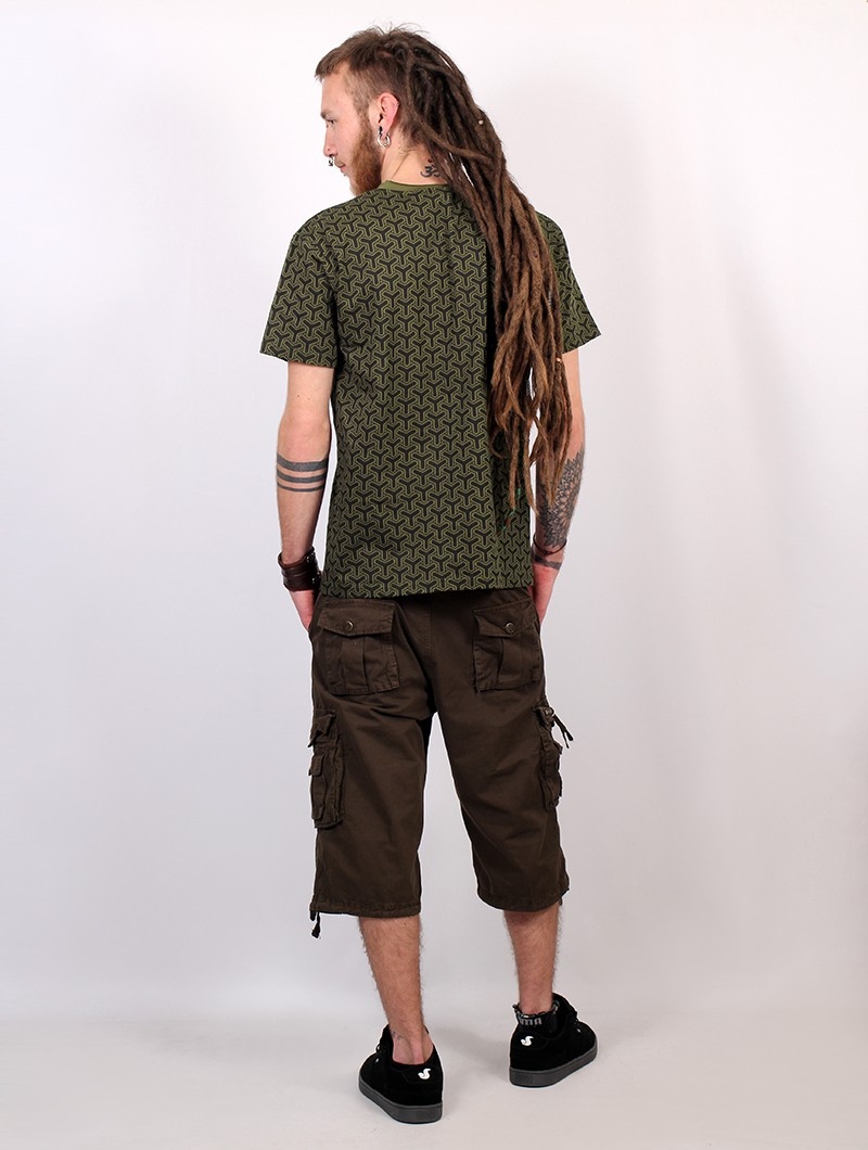 """Amun Kikko\"" short sleeves t-shirt, Khaki green"