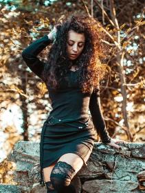 "\""Anaëly\"" sweater dress, Black"