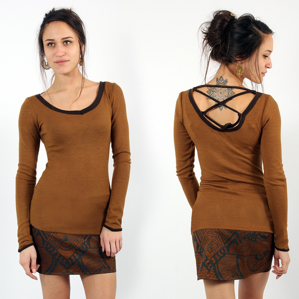 ""\""""Anaëly"""" Top Pull, Rusty and Brown""1000|1000|?|en|2|3f753238debfe93039c83c64d411d087|False|UNLIKELY|0.3181501030921936