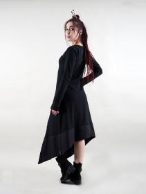 "\""Anat\"" long sleeve long dress, Black"