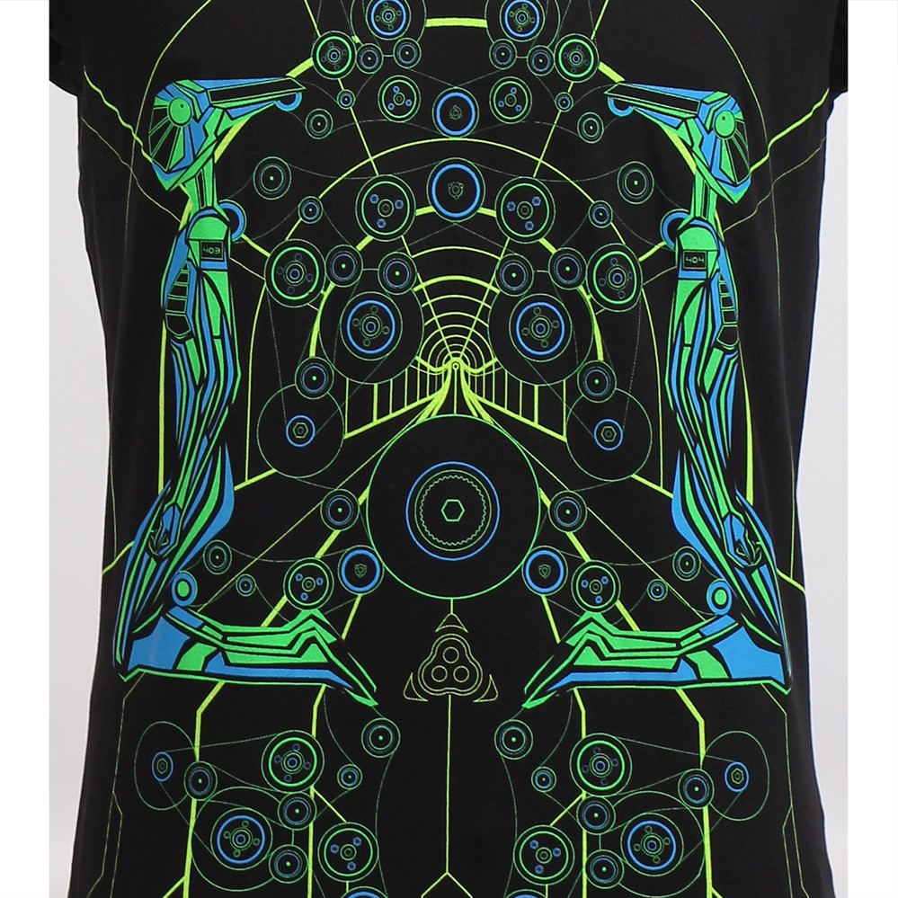 """Androids\"" UV t-shirt, Black"