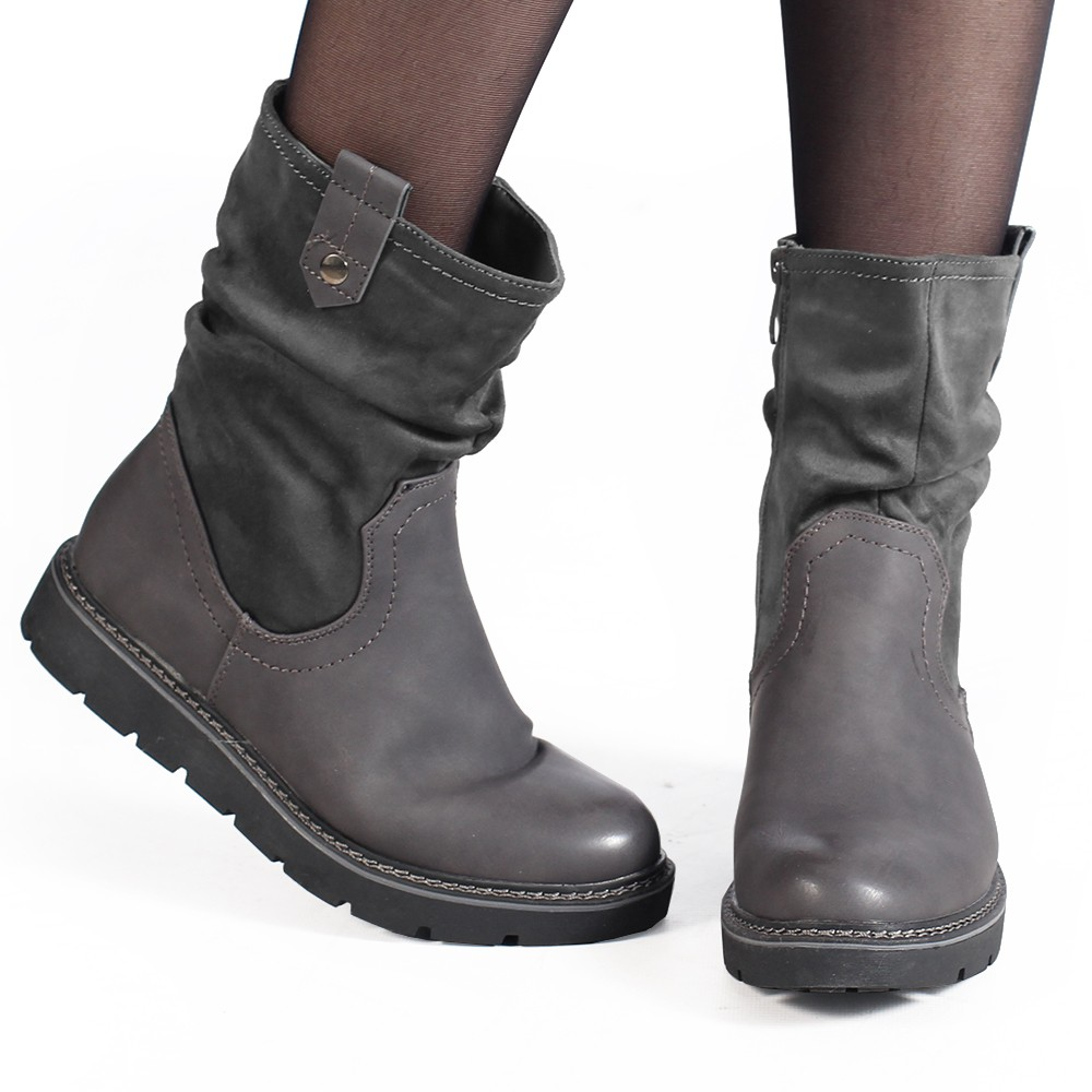"\""Anéa\"" Boots, Grey"
