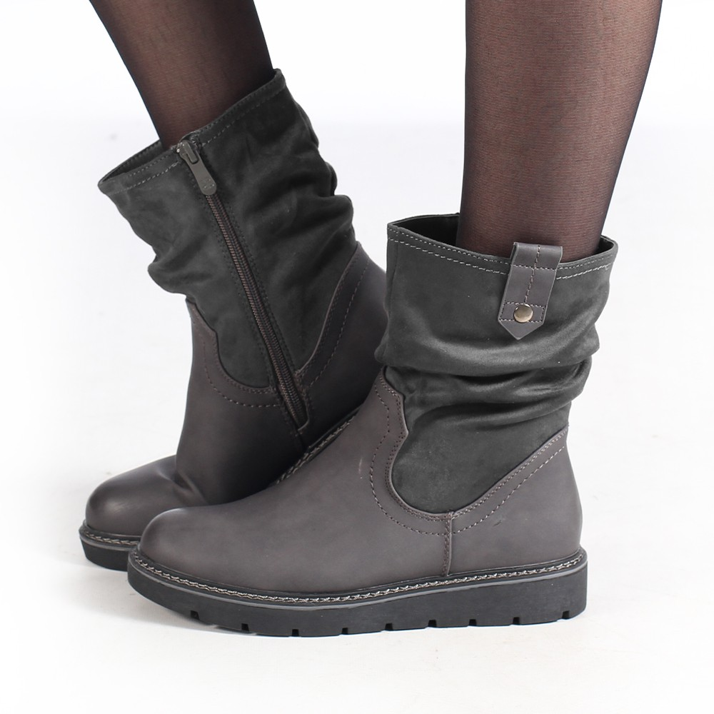 """Anéa\"" Boots, Grey"