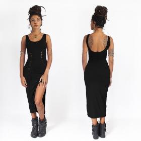 angelina liloo skin tight and sexy midi black dress
