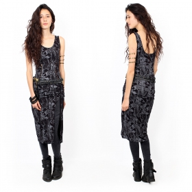 """Angelina\"" dress, Black reptile prints"