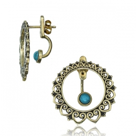 """Angha dayira Turquoise\"" earrings"