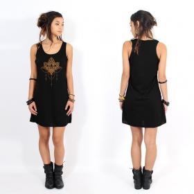 "\""Anitaya\"" dress, Black and copper"