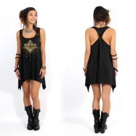 """Anitaya\"" knotted tunic, Black and gold"