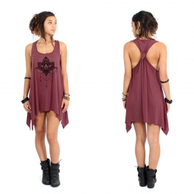""\""""Anitaya"""" knotted tunic, Mottled wine and black""280|280|?|en|2|45e31b28593f49d9988edcb3669550fd|False|UNLIKELY|0.29110273718833923
