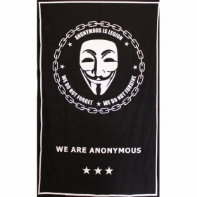 "\""Anonymous\\\"" hanging, Black"