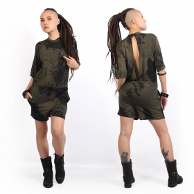 """Anouke\"" playsuit, Camo khaki green"
