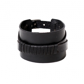 """Anshu\"" leather bracelet, Black"