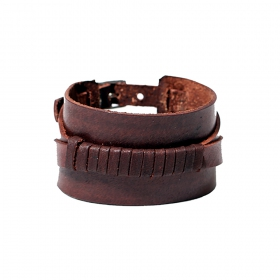 """Anshu\"" leather bracelet, Brown"