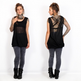 """Aponi\"" sleeveless top, Black"